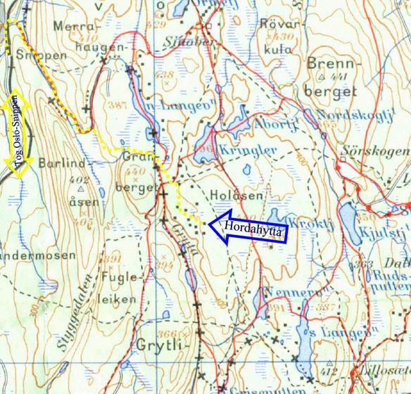 kart lillomarka Hordahytta i Lillomarka   kart kart lillomarka